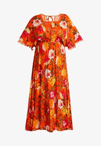 CAPSULE by Simply Be - CRINKLE SQUARE NECK DRESS - Maxikjole - orange - 4
