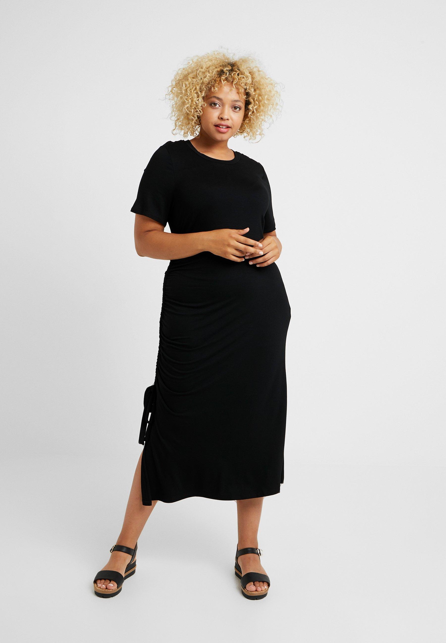 Black By Be DressRobe Side D'été Simply Capsule Ruched sQCdhxrt