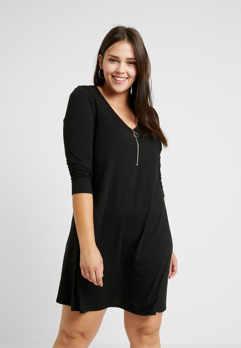 CAPSULE by Simply Be - SWING DRESS - Jerseykleid - black