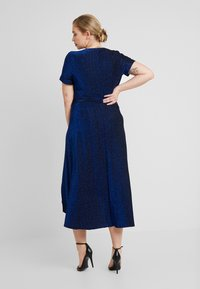 CAPSULE by Simply Be - GLITTER WRAP SKATER DRESS - Cocktailklänning - cobalt - 3