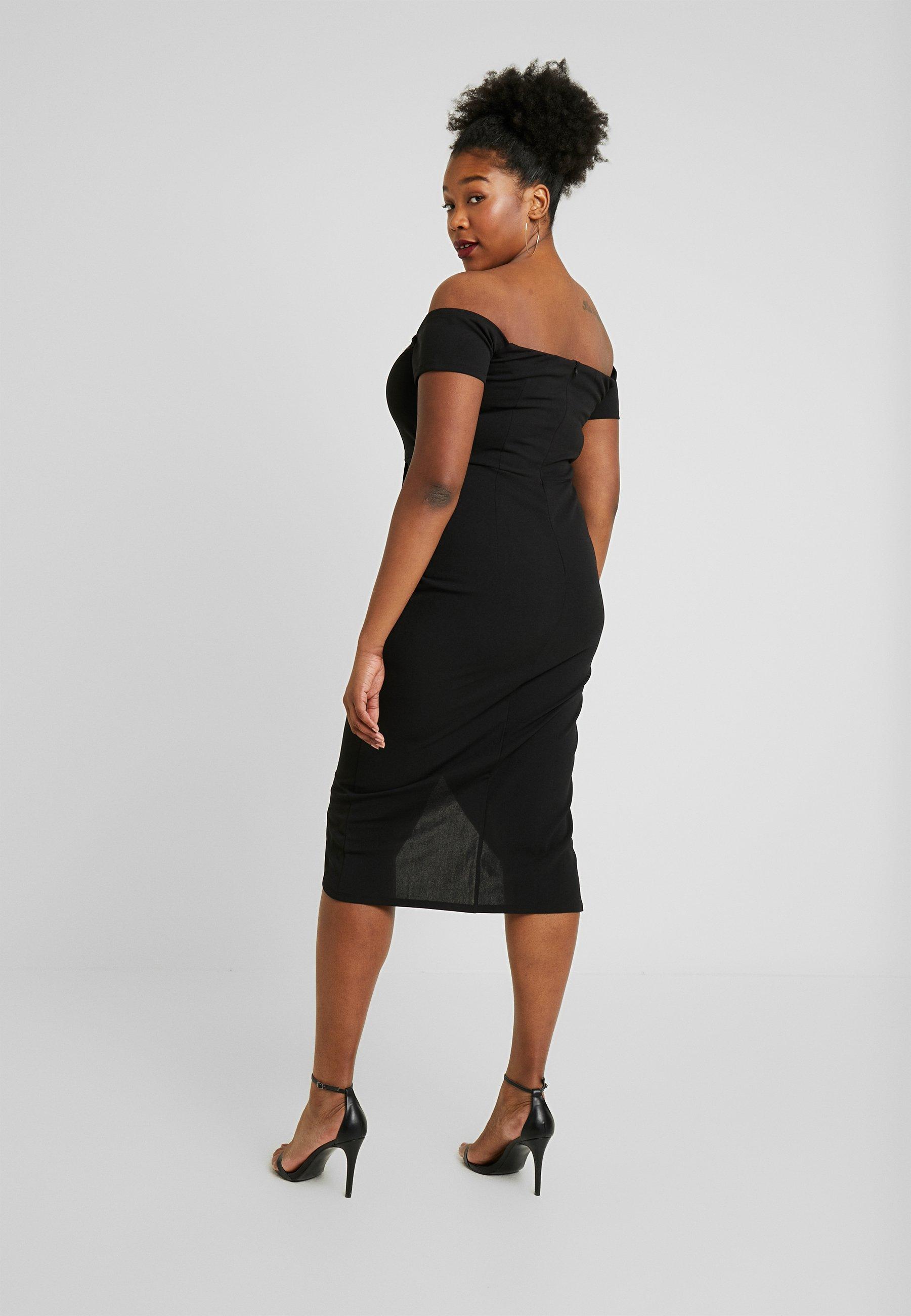 Capsule By Simply Be Bardot Wrap Midi Dress - Etuikleid Black Friday