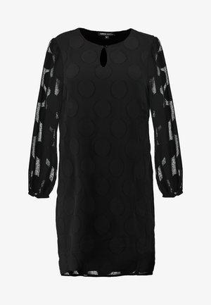 DOBBY SPOT SHIFT DRESS - Robe d'été - black