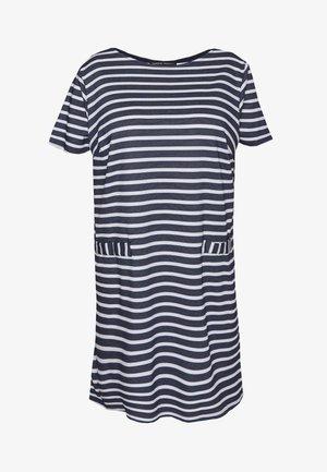 POCKET DETAIL  DRESS - Jerseykjoler - navy/white