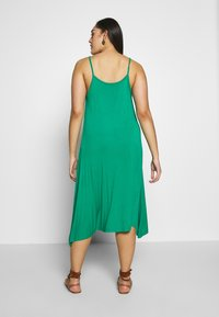 CAPSULE by Simply Be - MIDI CAMI DRESS 2 PACK - Day dress - black based palm print & green solid - 2