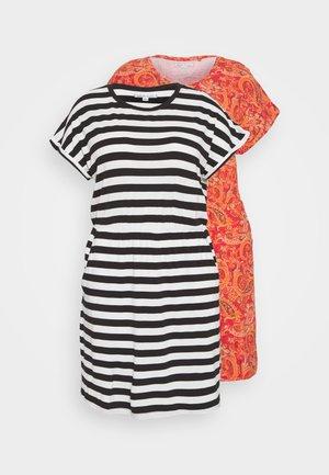 2 PACK - Jersey dress - plain