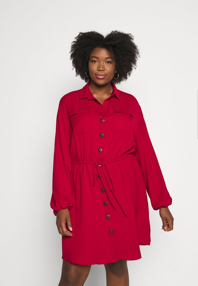 DRESS - Shirt dress - red