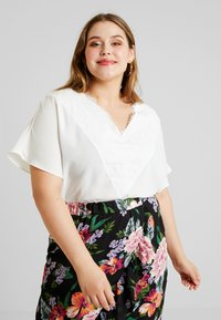 CAPSULE by Simply Be - VNECK DENNIS DAY - Bluser - ivory - 0