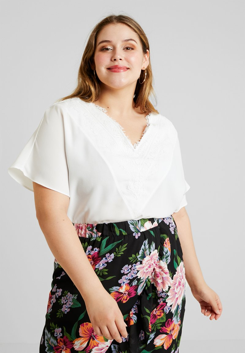 CAPSULE by Simply Be - VNECK DENNIS DAY - Bluse - ivory