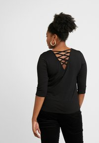 CAPSULE by Simply Be - LACE UP BACK - T-shirt print - black - 2