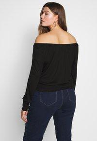 CAPSULE by Simply Be - BARDOT  - Long sleeved top - black - 2