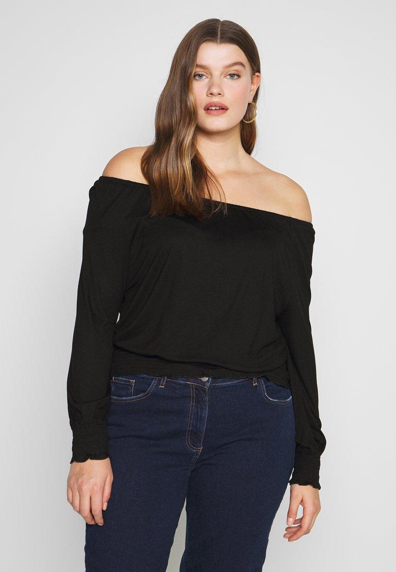 CAPSULE by Simply Be - BARDOT  - Long sleeved top - black