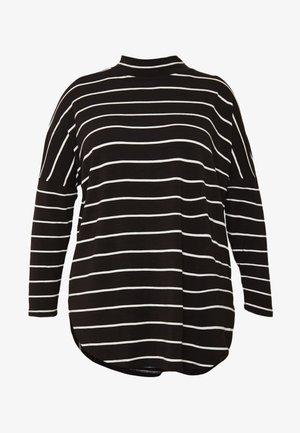 STRIPE TUNIC HIGH NECK - Maglietta a manica lunga - black
