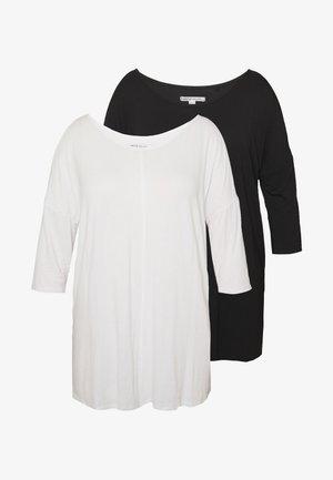 COLD SHOULDER 2 PACK  - T-shirt à manches longues - black/white