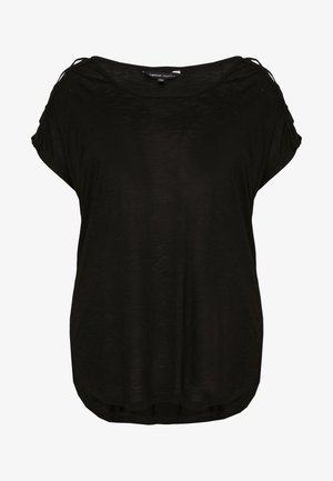 CRISS CROSS STRAP - T-shirts med print - black