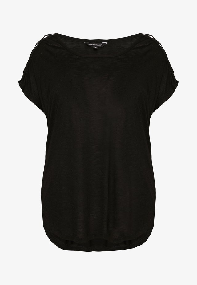 CRISS CROSS STRAP - T-Shirt print - black