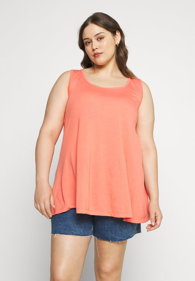 SLEEVELESS SWING TUNIC PACK 2  - Toppi - multi coloured/coral