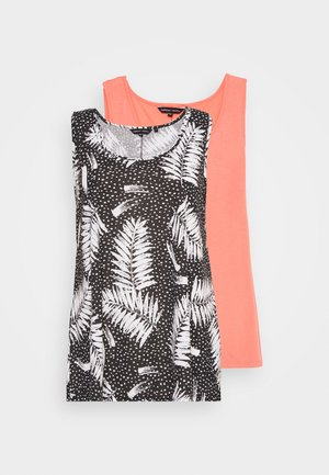 SLEEVELESS SWING 2 PACK - Top - coral