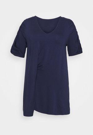 TUCK SIDE TUNIC - T-shirts print - dark navy