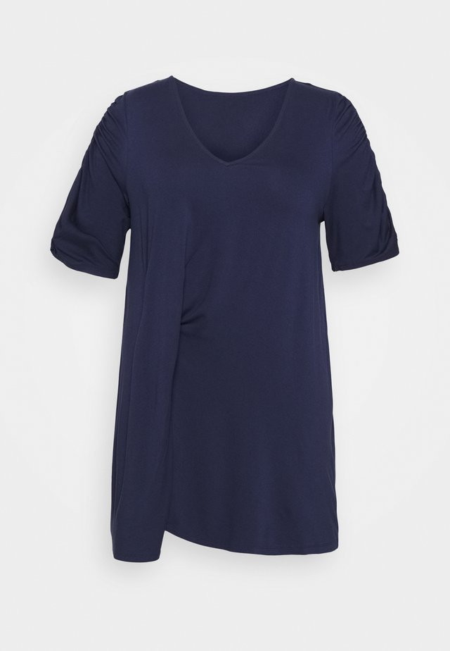 TUCK SIDE TUNIC - T-shirts print - dark navy