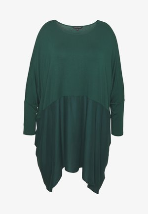 COLOUR BLOCK HANKY TUNIC - T-shirt à manches longues - forest green