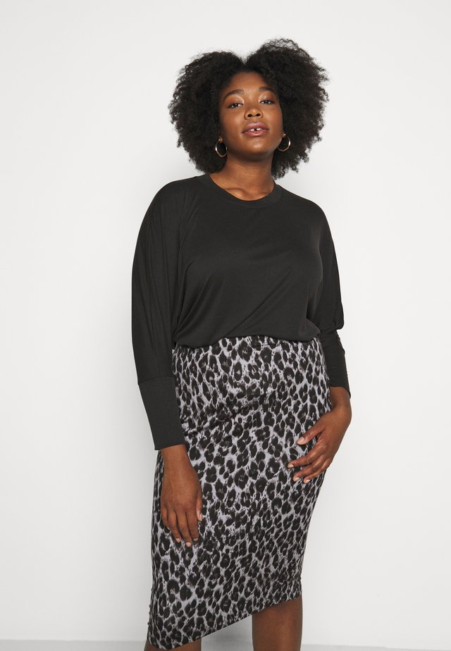 BLEND TUNIC TOP - Long sleeved top - charcoal