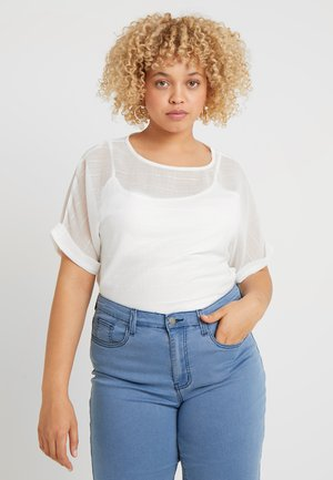 TEXTURED BOXY - Blouse - ivory