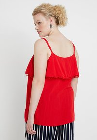 CAPSULE by Simply Be - POM POM TRIM DOUBLE LAYER CAMI - Top - red - 2