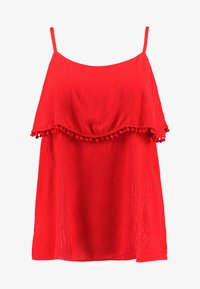 CAPSULE by Simply Be - POM POM TRIM DOUBLE LAYER CAMI - Top - red - 3