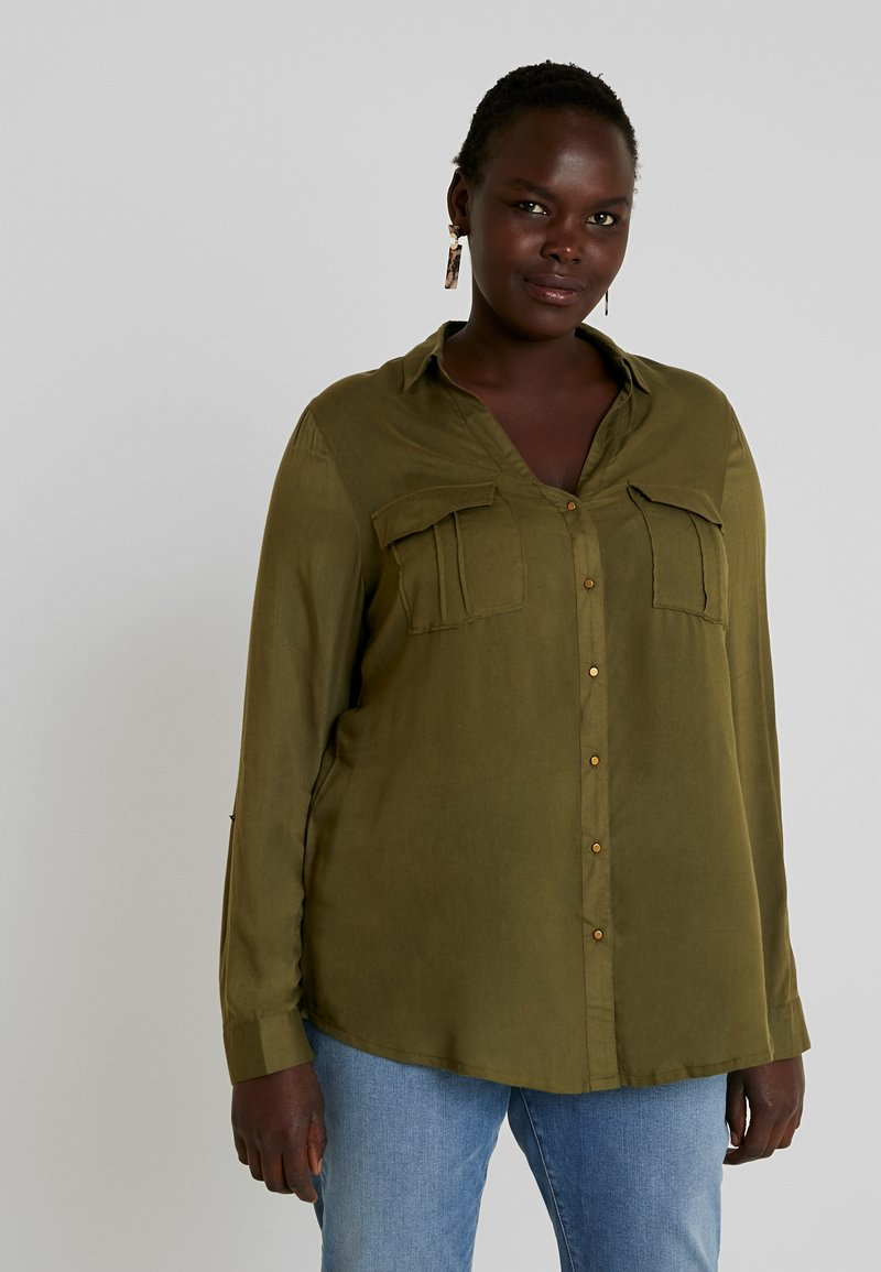 CAPSULE by Simply Be - UTILITY - Blouse - khaki