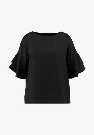 FLUTED SLEEVE BOXY  - Blouse - black
