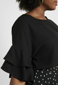 CAPSULE by Simply Be - FLUTED SLEEVE BOXY  - Blouse - black - 5