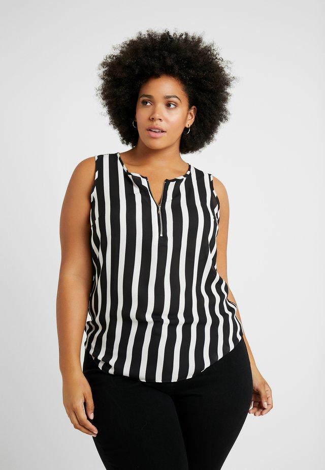 ZIP FRONT VEST - Bluse - multi-coloured