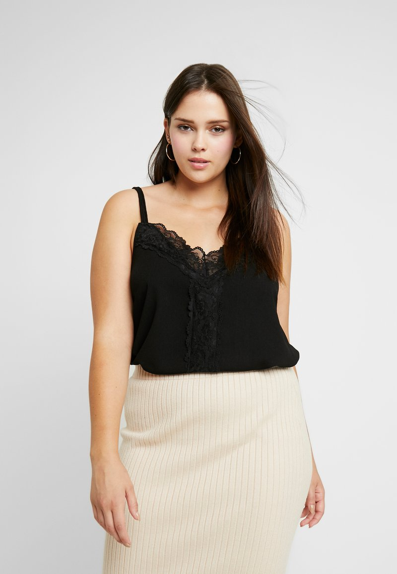 CAPSULE by Simply Be - TRIM CAMI - Toppe - black