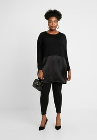 CAPSULE by Simply Be - Topper langermet - black - 1