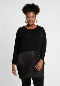 CAPSULE by Simply Be - Topper langermet - black - 0