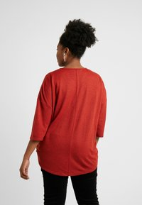 CAPSULE by Simply Be - ZIP FRONT - Svetr - brick red - 2