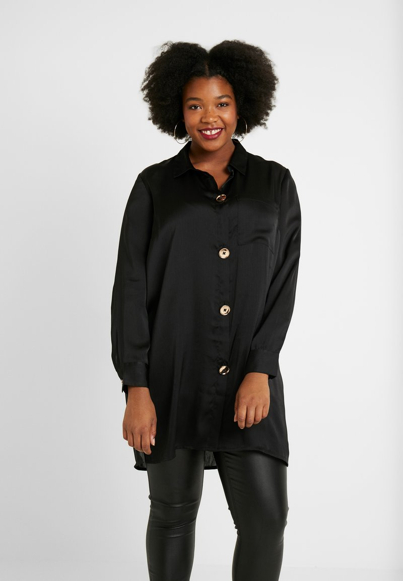 CAPSULE by Simply Be - WITH GOLD BUTTONS - Camisa - black