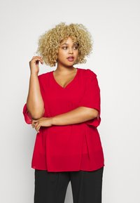 CAPSULE by Simply Be - LINED BLOUSE - Blouse - dark red - 0