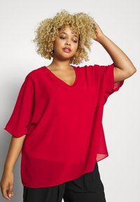 CAPSULE by Simply Be - LINED BLOUSE - Bluser - dark red - 3