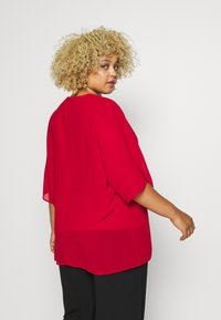 CAPSULE by Simply Be - LINED BLOUSE - Bluser - dark red - 2