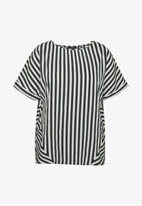 CAPSULE by Simply Be - CONTRAST SIDE STRIPE BOXY - Blouse - white - 3