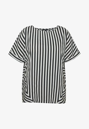 CONTRAST SIDE STRIPE BOXY - Blouse - white