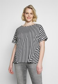 CAPSULE by Simply Be - CONTRAST SIDE STRIPE BOXY - Blouse - white - 0