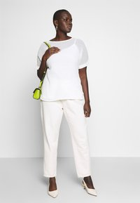 CAPSULE by Simply Be - TEXTURED BOXY TOP - Blouse - ivory - 1