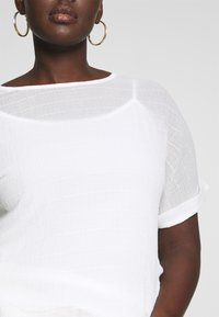 CAPSULE by Simply Be - TEXTURED BOXY TOP - Blouse - ivory - 5