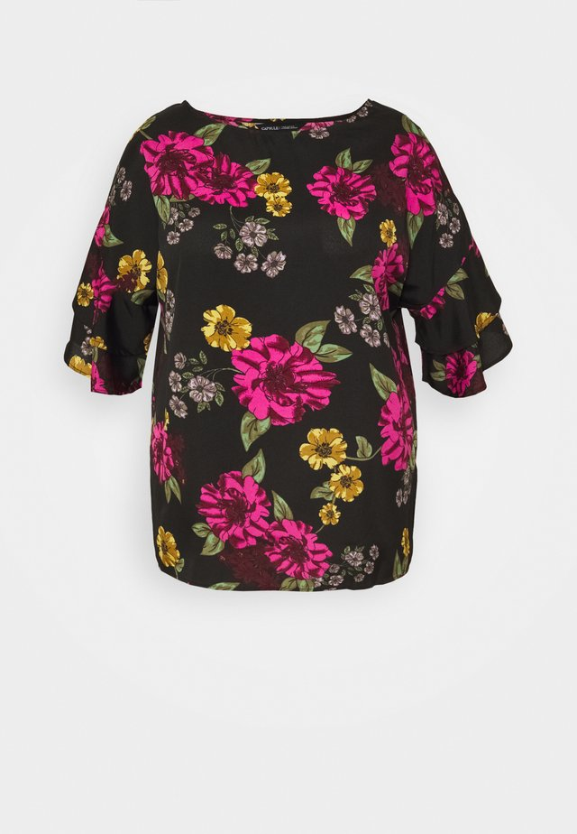 FLUTED SLEEVE BOXY - Blouse - berry