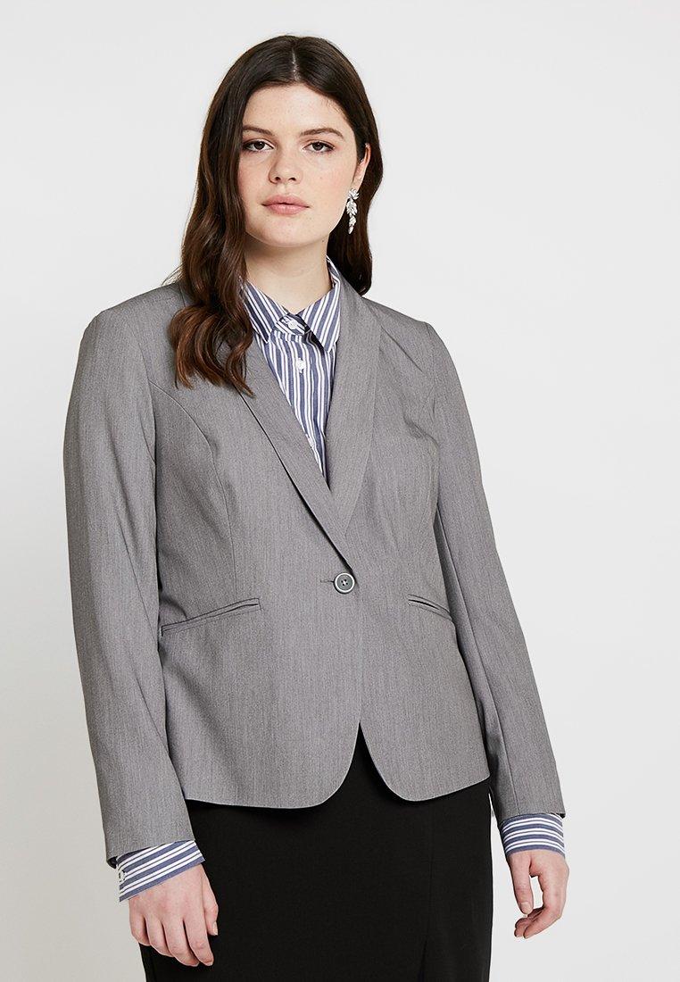 CAPSULE by Simply Be - NEW SHAWL COLLAR - Blazer - light grey marl