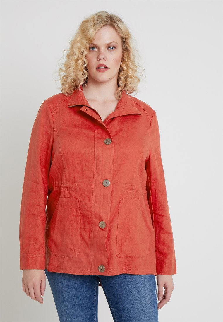 CAPSULE by Simply Be - UTILITY JACKET - Chaqueta fina - red