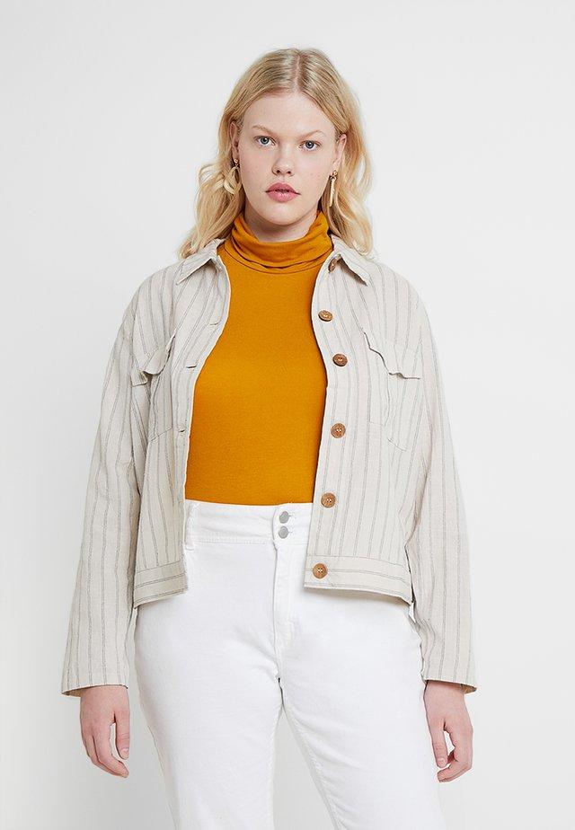 STRIPE JACKET - Summer jacket - cream/blue