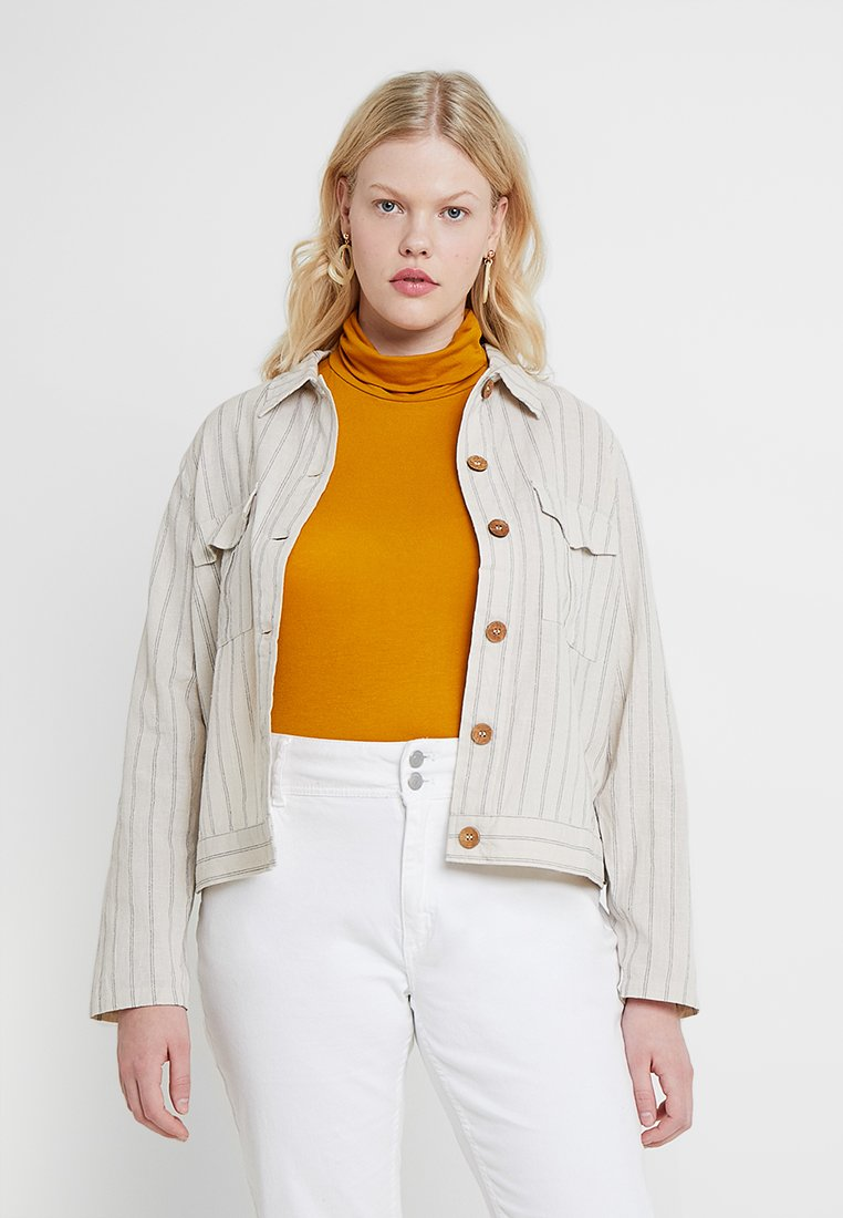 CAPSULE by Simply Be - STRIPE JACKET - Leichte Jacke - cream/blue